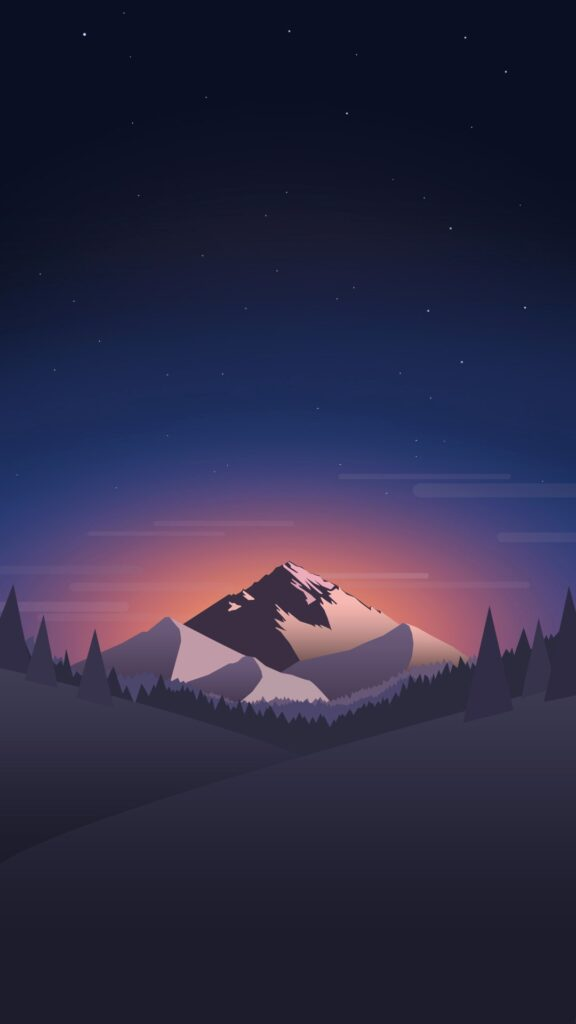 Minimal Phone Wallpapers Lovely Digital Minimal Mountains Forest Night Iphone Wallpaper 2019