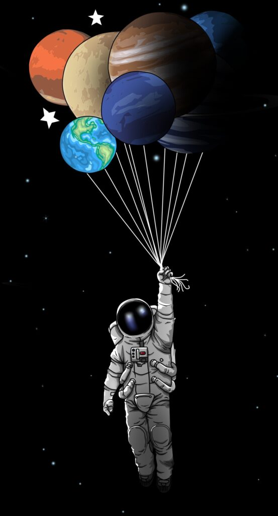 astronaut background for iphone